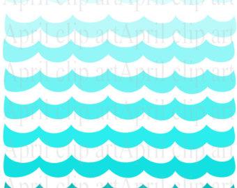 340x270 Ombre Ocean Waves Clip Art Cliparts