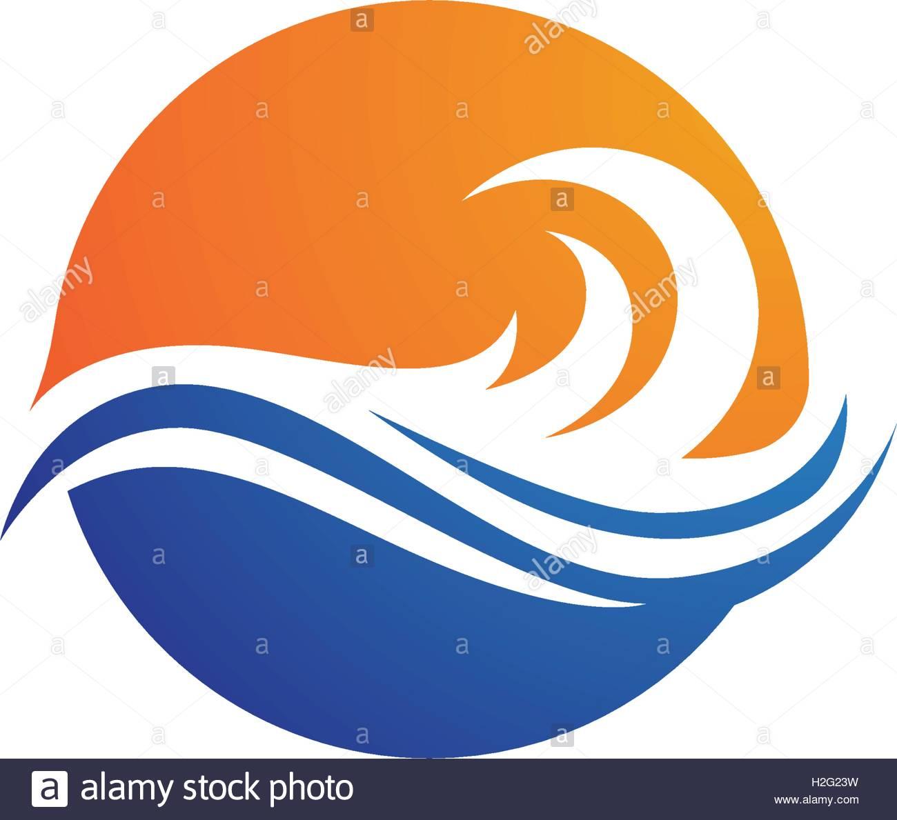 1300x1189 Water Wave Logo Template Stock Vector Art Amp Illustration, Vector