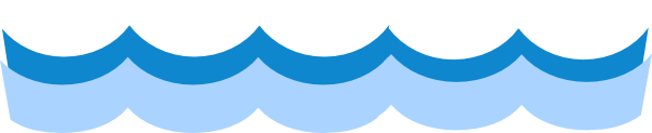 600x123 Water waves clip art