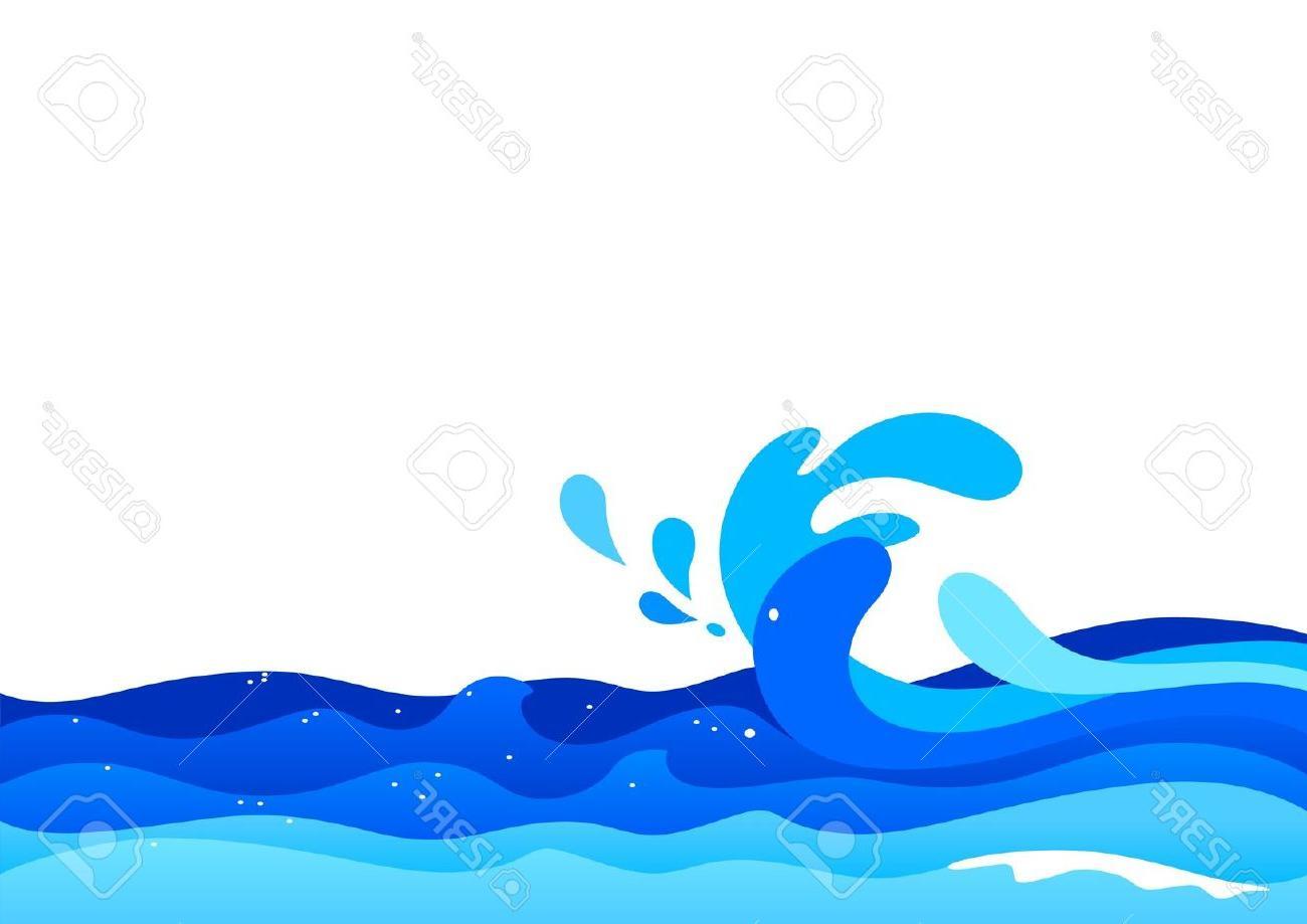 1300x919 Best Illustration Of Ocean Waves Stock Vector Cartoon Photos