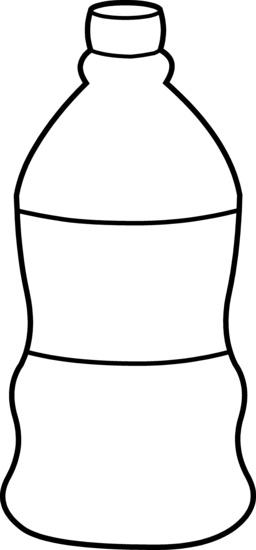 256x550 Water Bottle Line Art