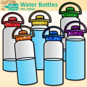 350x350 Bottle Clip Art {Drink Containers for Classroom Management