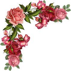 236x236 Pink Rose Borders Free Roses Border Vintage Style