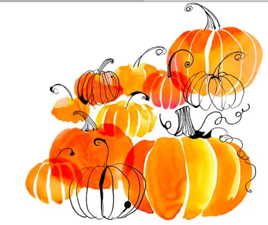 Pumpkin watercolor. Clipart free download best