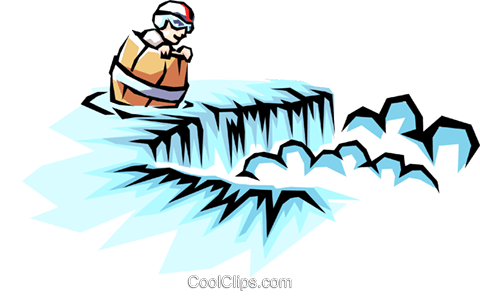 480x297 Barrel Going Over Niagara Falls Royalty Free Vector Clip Art