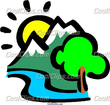 375x360 Mountain River Clipart