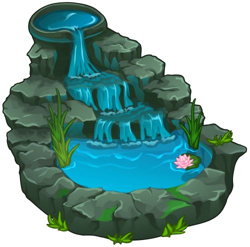 500x494 Water Fall Cliparts Vector