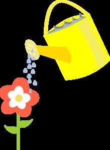 219x298 Flower Being Watered Clip Art