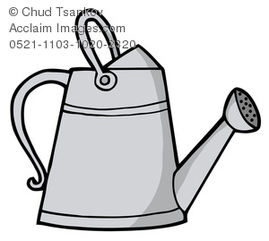 300x269 Silver Water Can Clipart Image
