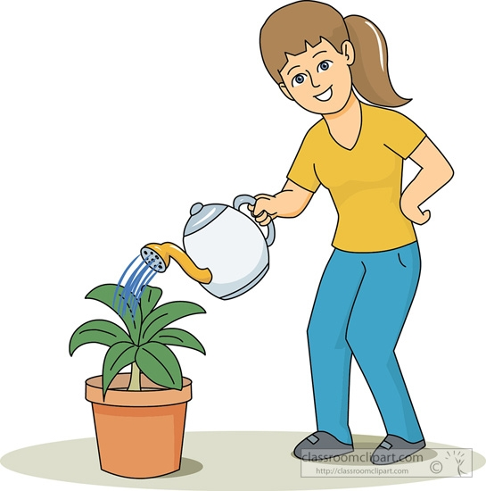 545x550 Boy Clipart Water Plant