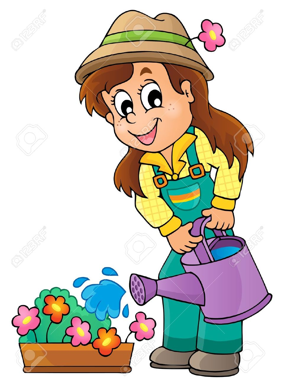 960x1300 Watering Can Clipart Child Gardening