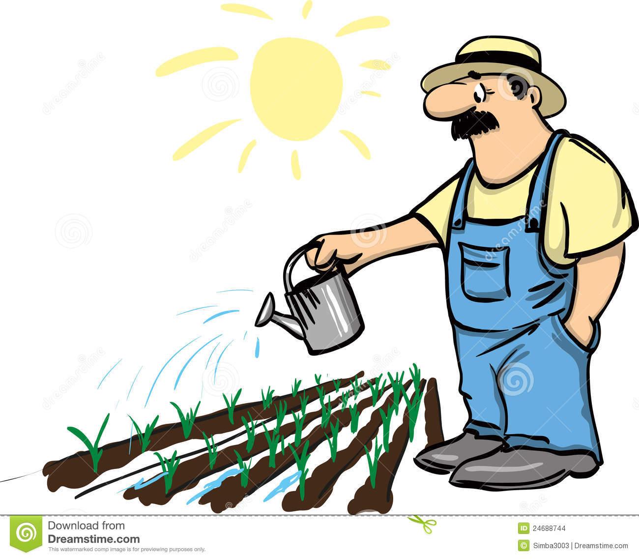 1300x1137 Watering The Garden Clipart