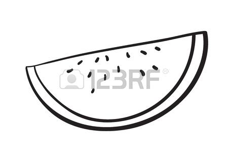 450x312 Detalied Illustration Of Watermelon Slice On White Background