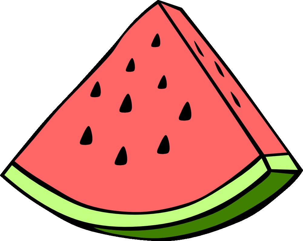 1000x794 Watermelon Black And White Clipart