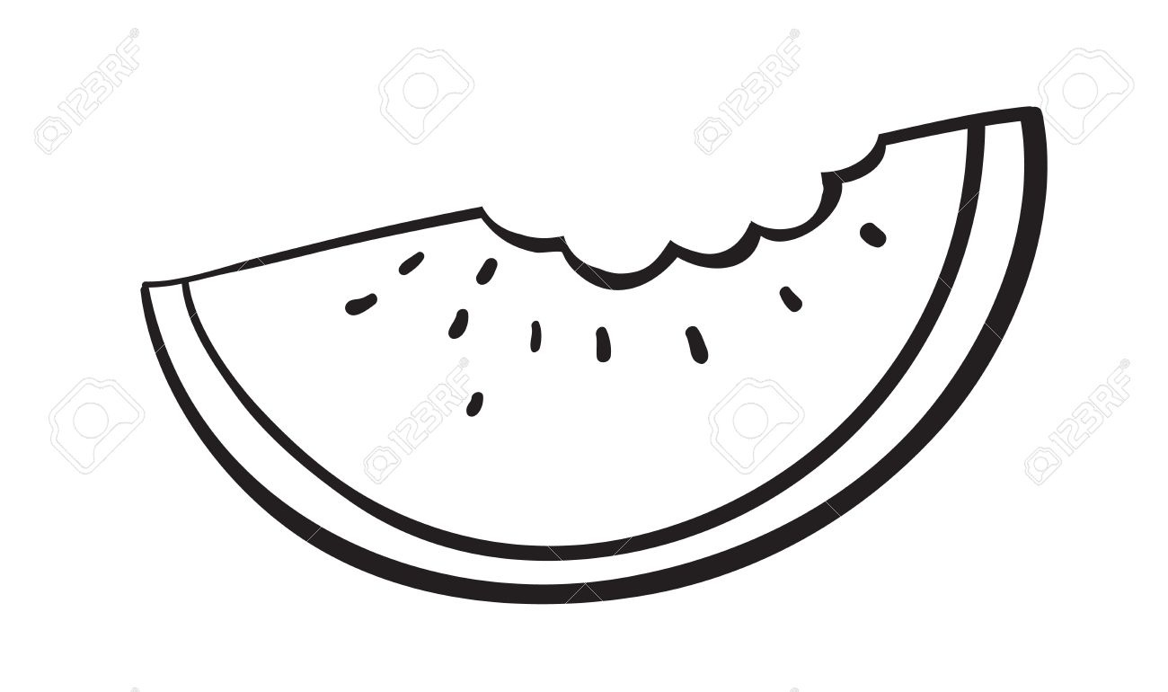 1300x770 Watermelon Seed Clipart Black And White Letters Example