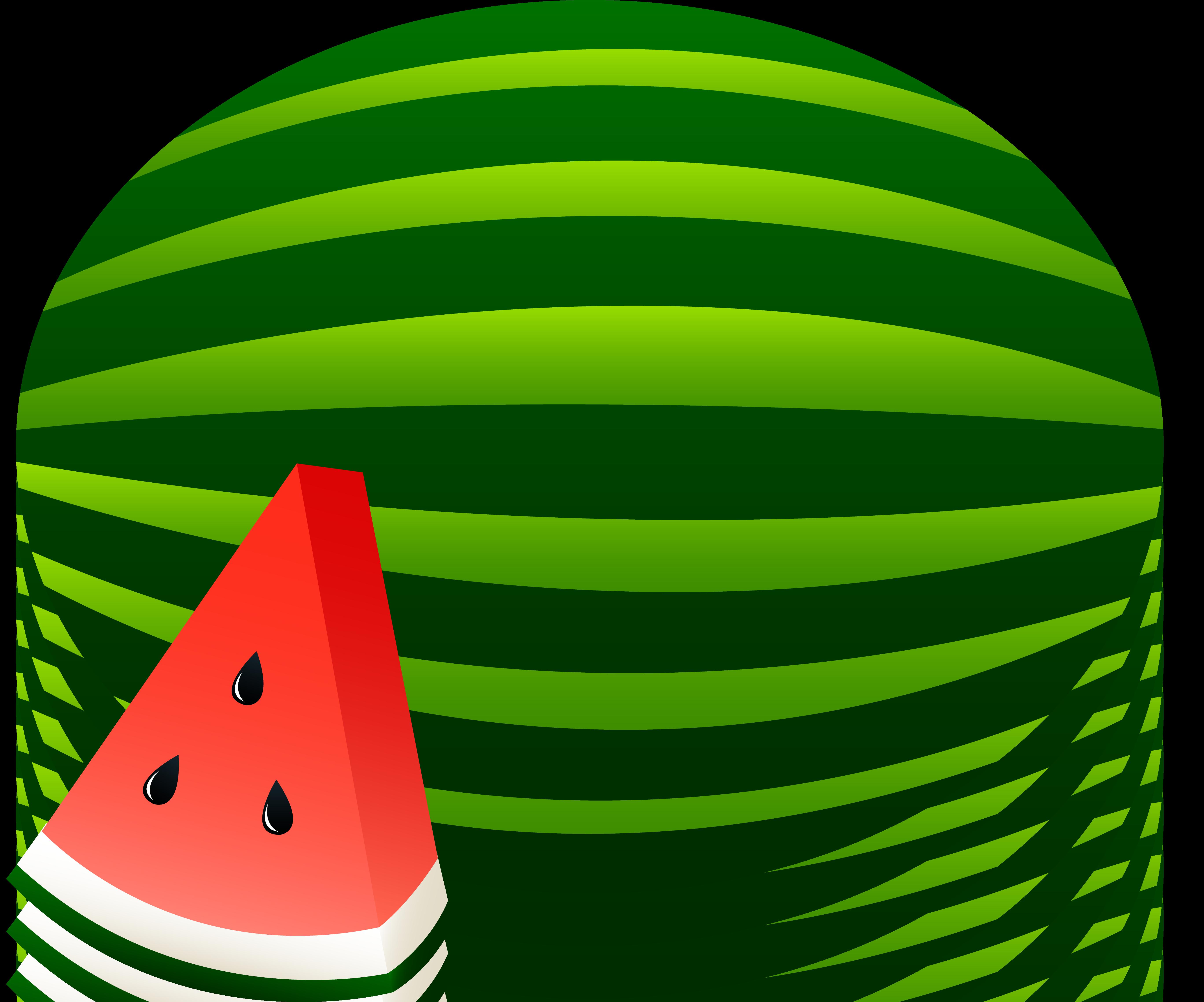 5469x4551 Watermelon Clipart Black And White Free