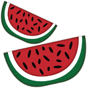 340x342 Watermelon Clipart Black And White Free Clipart 3