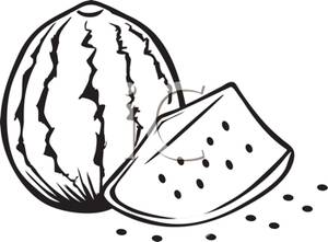 300x221 And White Cut Watermelon