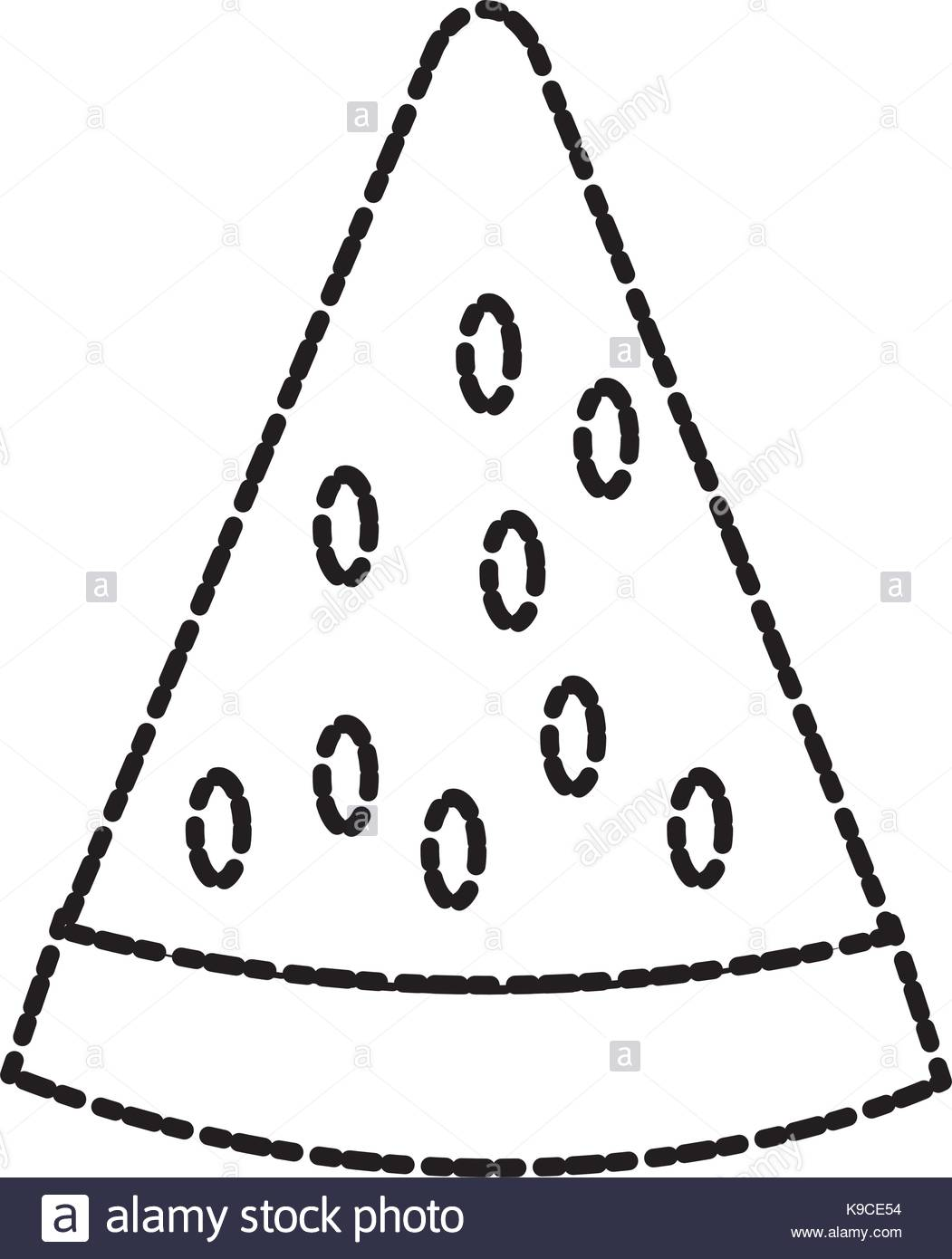 1051x1390 Black White Illustration Slice Watermelon Stock Photos Amp Black