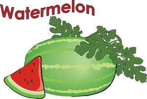 300x202 Black And White Watermelon Clipart Free 3