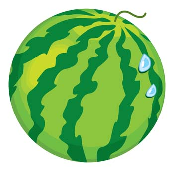 350x345 Green Watermelon Clipart