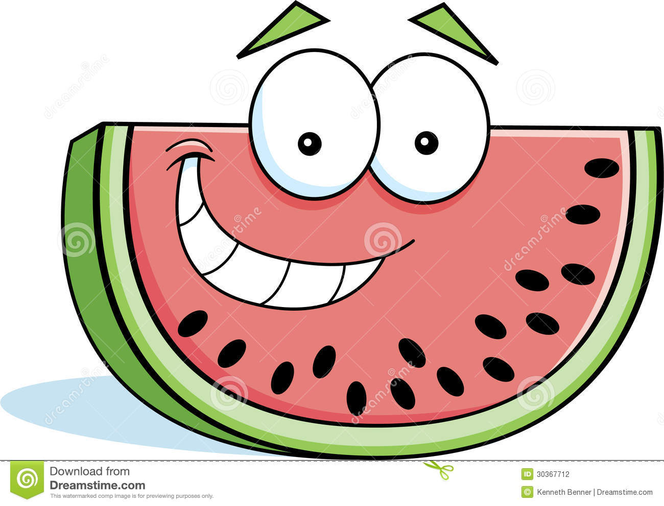 1300x992 Watermelon Cartoon Clipart