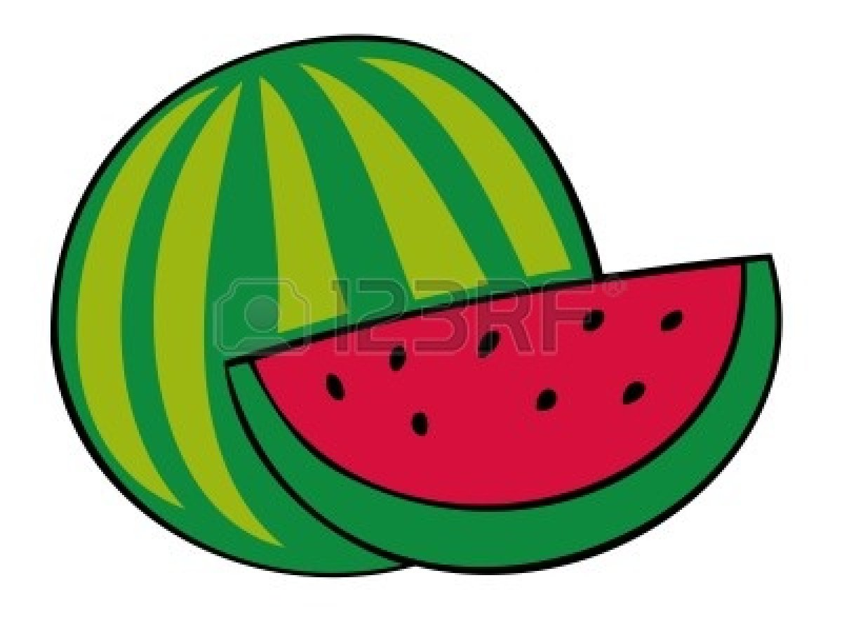 1200x900 Watermelon Cartoon Clipart 2