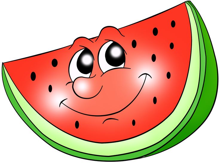 736x553 Watermelon Clipart Funny Fruit