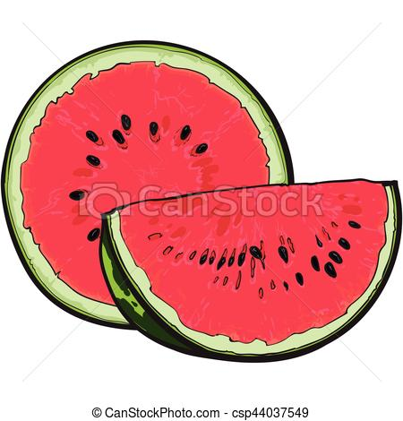450x470 Watermelon Clipart Ripe