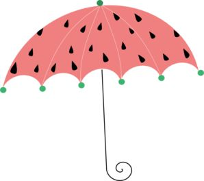 298x264 Cute Umbrella Clipart
