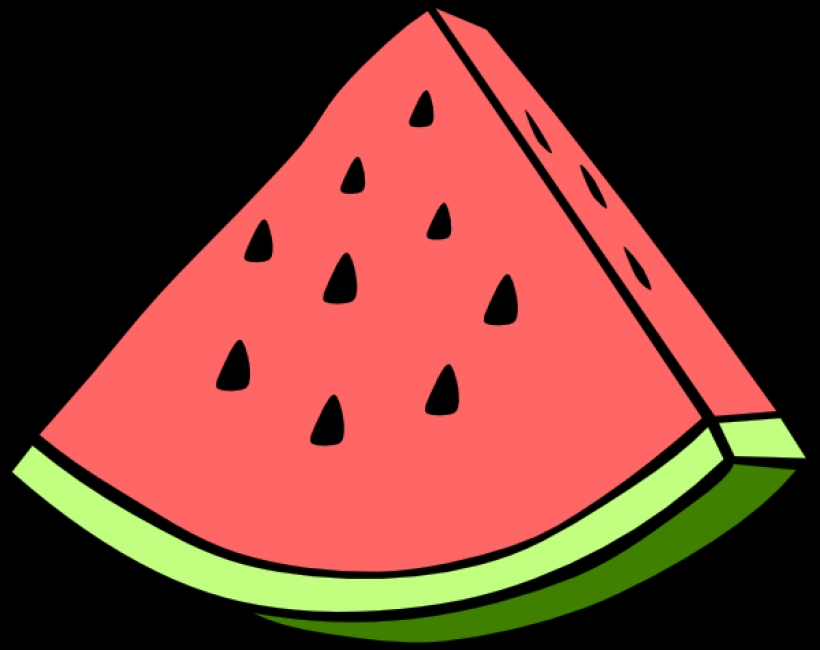 820x650 Watermelon Wedge Clip Art