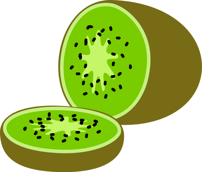 700x596 Fruit Kiwis Watermelon Clipart Image