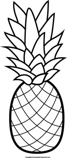 236x550 Cute Pineapples Clipart Set