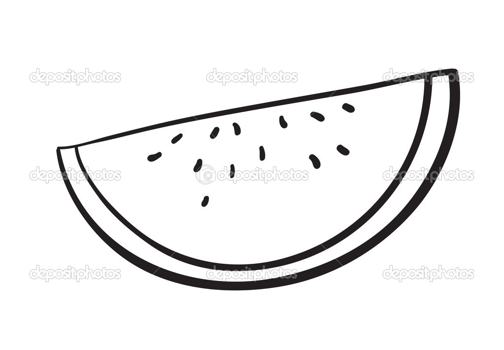1023x710 Free Watermelon Clipart Black And White Image