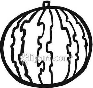 300x283 Watermelon Black And White Clipart