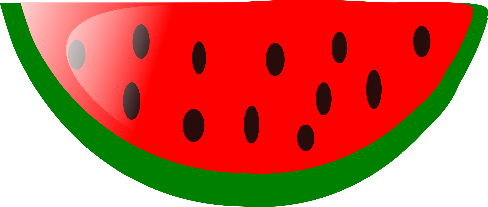 Watermelon clipart black and white free download best