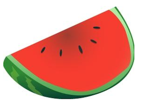 500x368 Watermelon clipart black and white