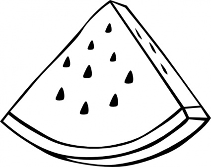 425x337 Watermelon Clipart Black And White