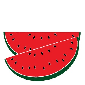 300x300 Watermelon clipart black and white free 3