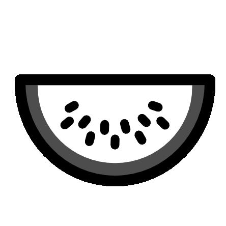 444x444 » Clip Art » watermelon icon black white food