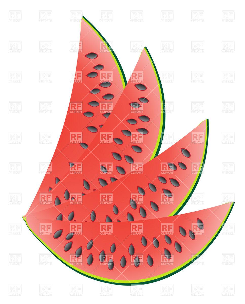 967x1200 Ripe slice of watermelon Royalty Free Vector Clip Art Image