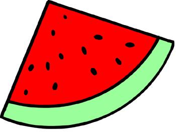 350x266 Triangle clipart watermelon