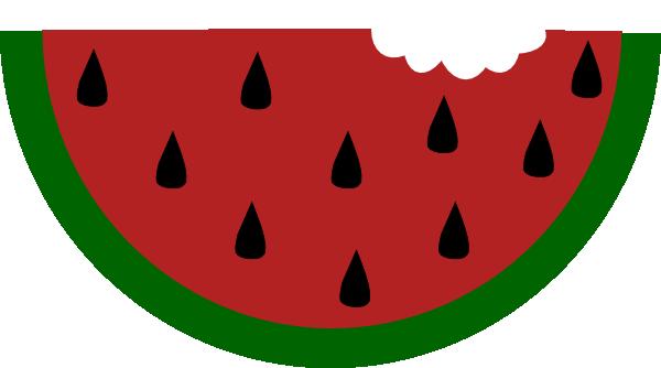600x334 Watermelon With Bite Clip Art