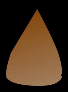 222x298 Brown Apple Seed Clip Art