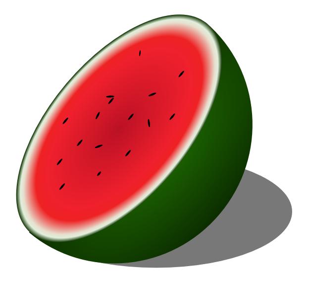 624x568 Free Melon Clipart, 2 pages of Public Domain Clip Art