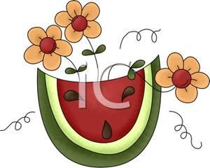 300x240 Watermelon Slice with Three Yellow Daisies