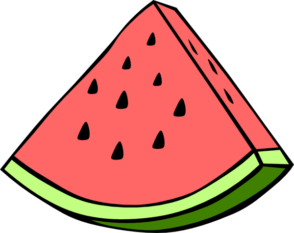 600x476 Watermelon Wedge Clip Art