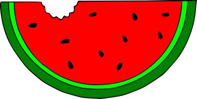 385x194 Watermelon clipart watermelon slice