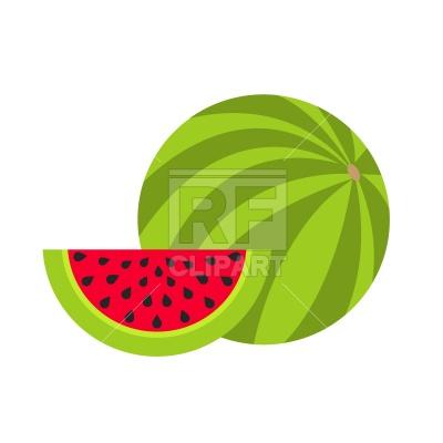 400x400 Watermelon slice Free Vector Clip Art Image