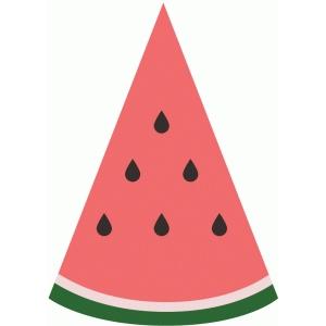 300x300 Watermelon slice silhouette design store view watermelon clipart